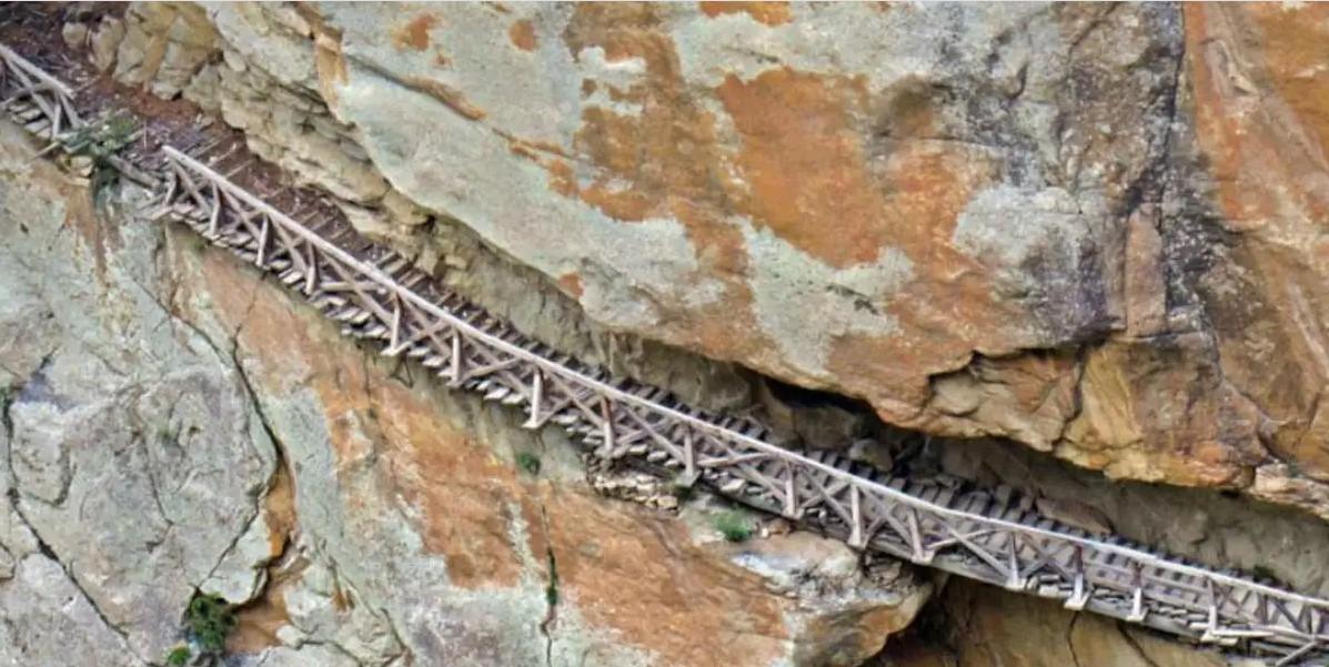 Не для слабонервных: в индийских Гималаях открыли для туристов 150-летний деревянный мост