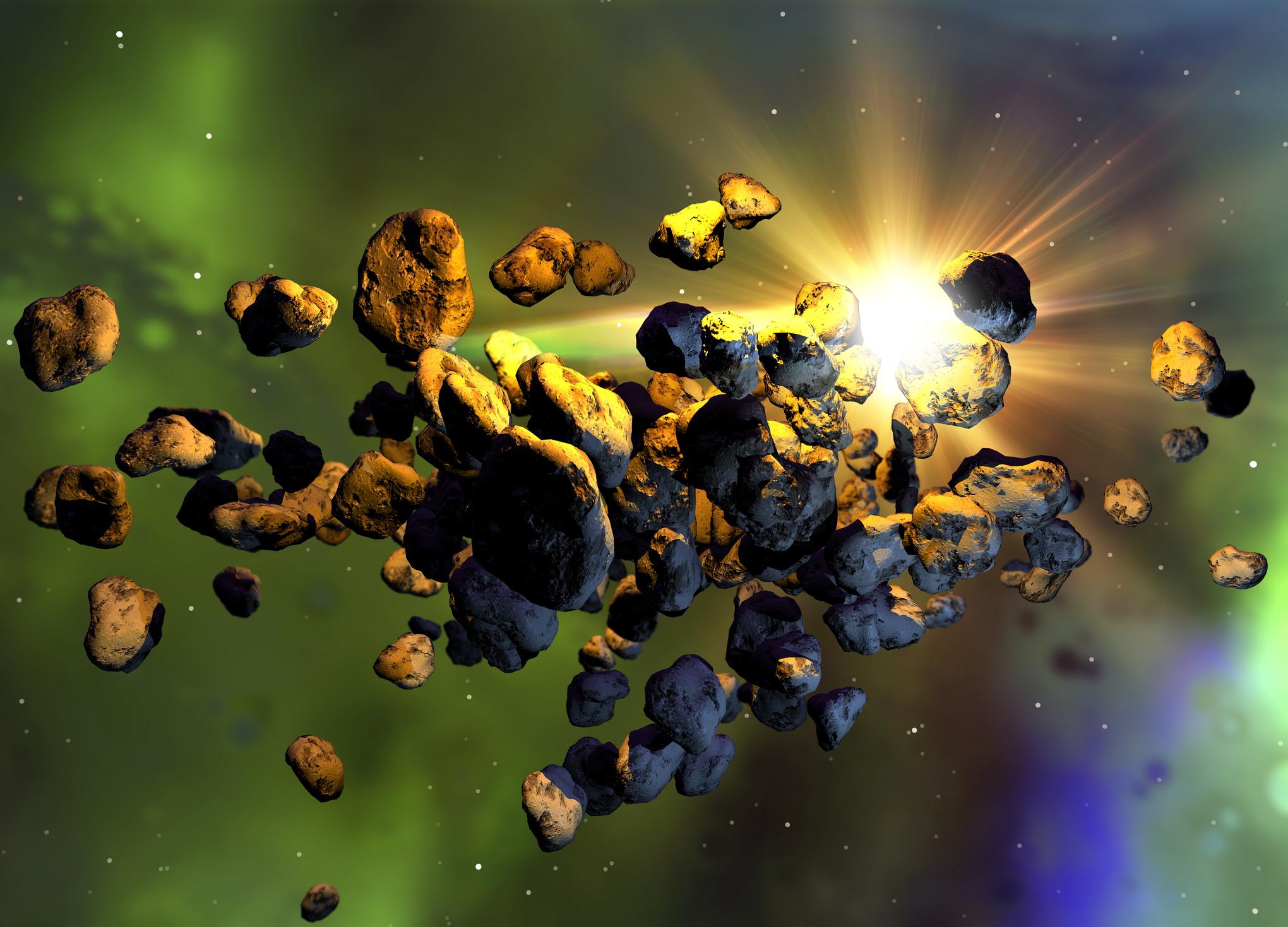 Две красные скалы в поясе астероидов возможно пришли из-за орбиты Нептуна.Вокруг Света. Украина