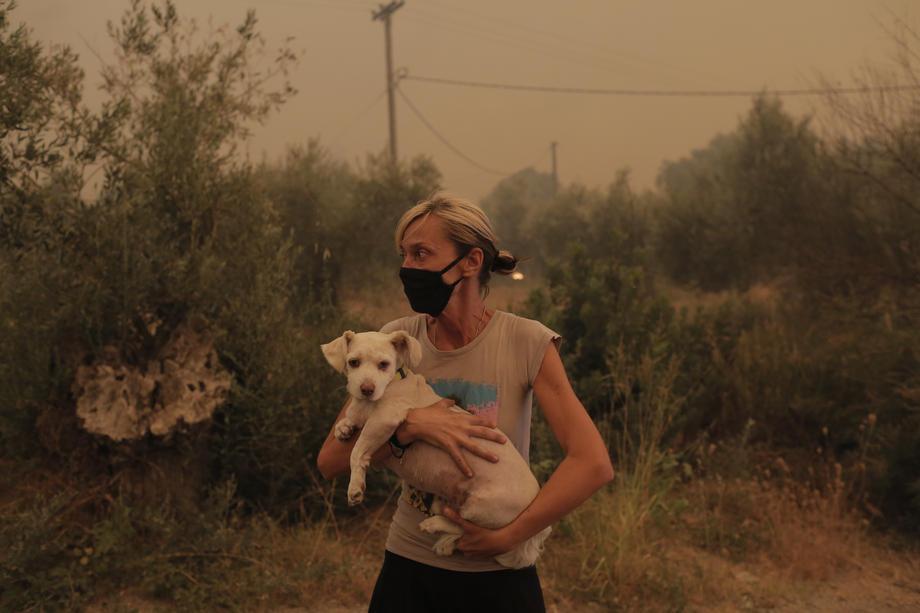 В Греции полыхают лесные пожары: эвакуированы тысячи людей.Вокруг Света. Украина