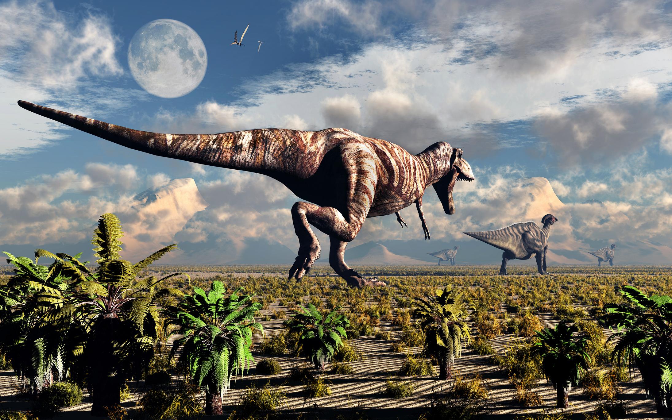 Двуногие динозавры виляли хвостом для равновесия: видео-имитация