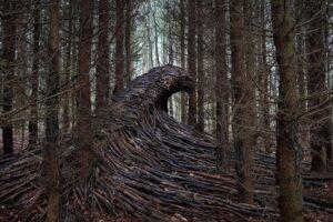 Немецкий художник создает удивительные инсталляции из веток