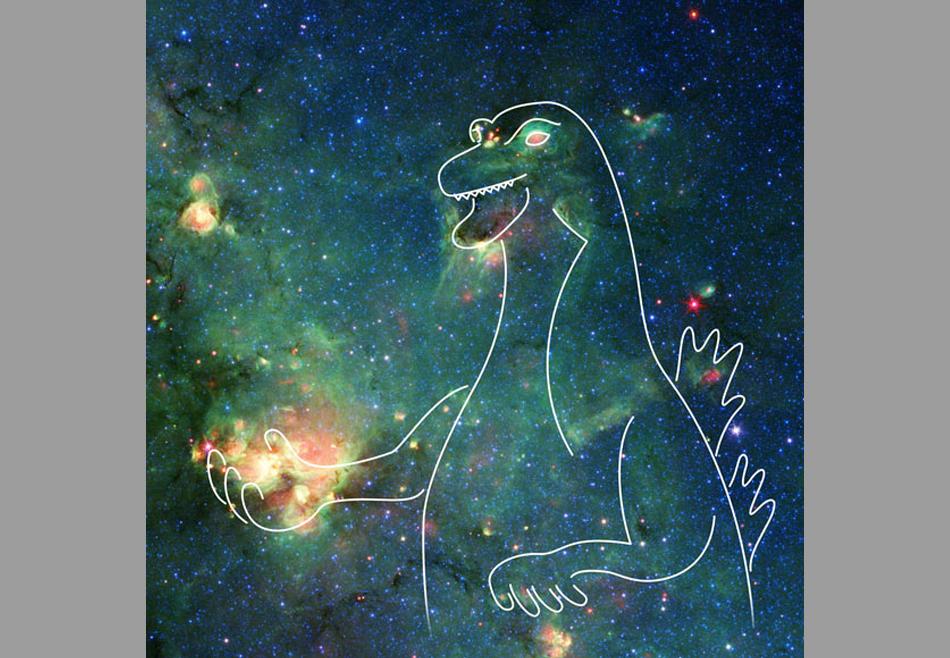 Телескоп NASA запечатлел туманность, похожую на Годзиллу