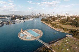 Внутри городской гавани Сиднея появится гигантский бассейн